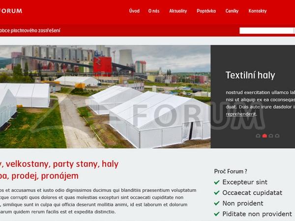 Nový pronájmový web